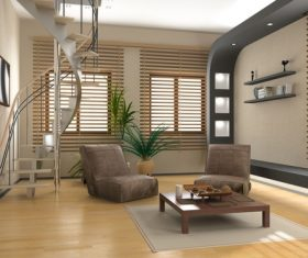 Different styles of living room Stock Photo 01