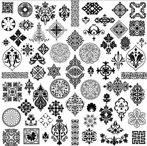 Different traceries free vector