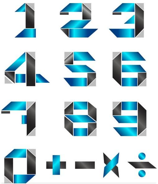 Digits Elements vectors