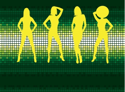 Disco dancing vector illustration
