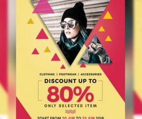 Discount Sale Promotion Flyer PSD Template