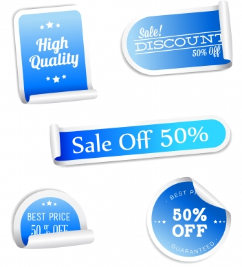 Discount sale tags collection vector set