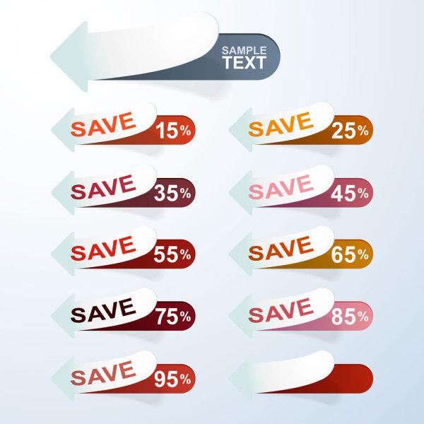 Discounts sale sticker vector