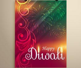 Diwali festvial flyer with brochure template vectors graphic 10