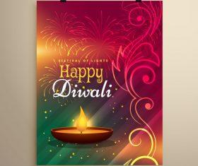 Diwali festvial flyer with brochure template vectors graphic 11