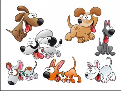 Dogs free vector graphics