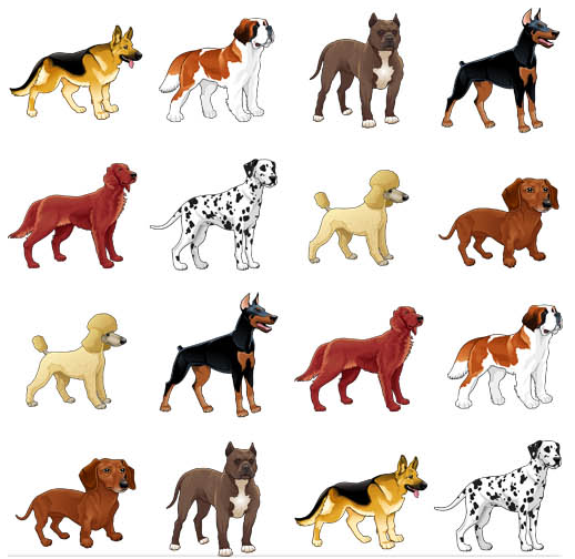 Dogs free vectors