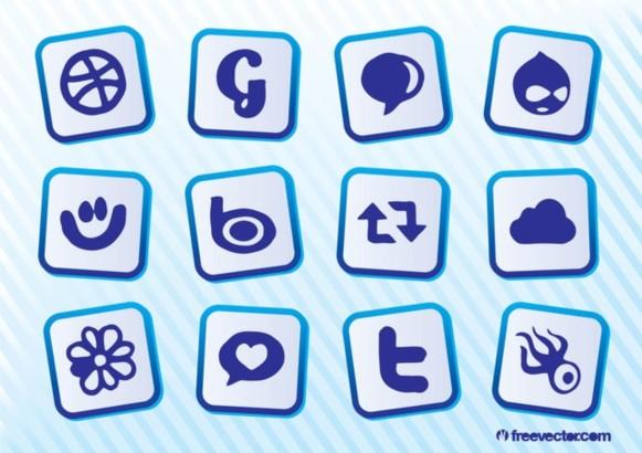 Download Social MediIcons design vector