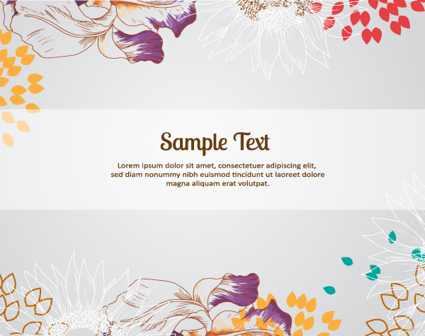 Draw flower background vector graphics