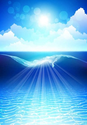 Dream sewater blue background vector