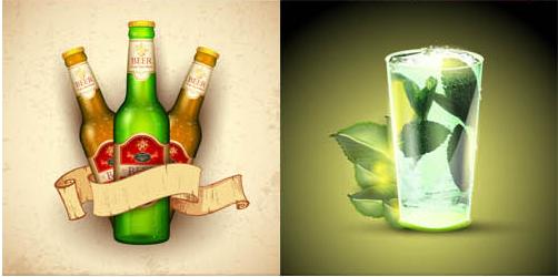 Drinks Backgrounds 2 vector