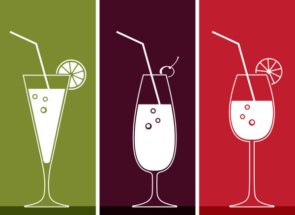 Drinks banner design vector