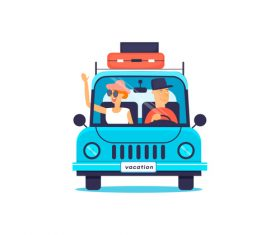 Driving tourism vector