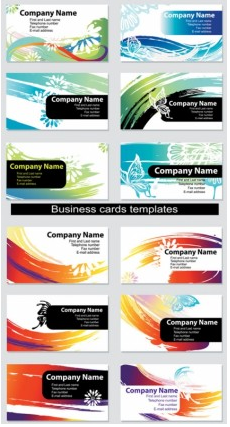 Dynamic colorful cards vector