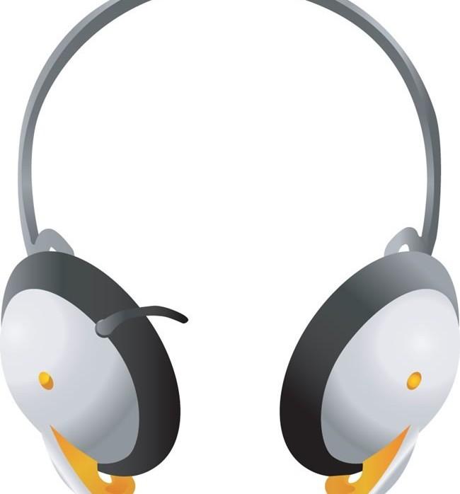 Earphone headset vectors material