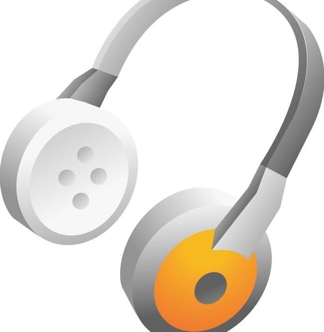Earphone and headset 2 vector graphics