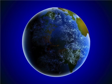 Earth From Space vector