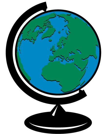 Earth Globe Clip Art vectors graphic