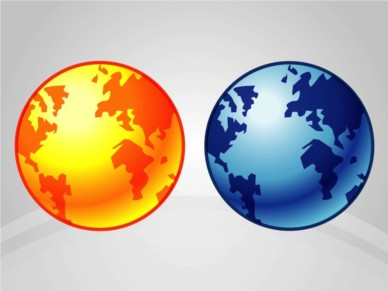 Earth Icons design vectors