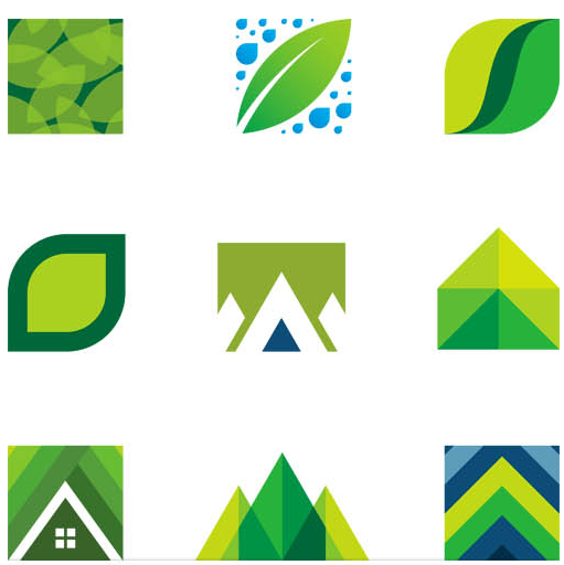 Eco Logotypes graphic vector
