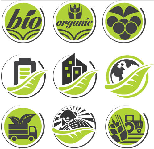 Eco Product Labels vector