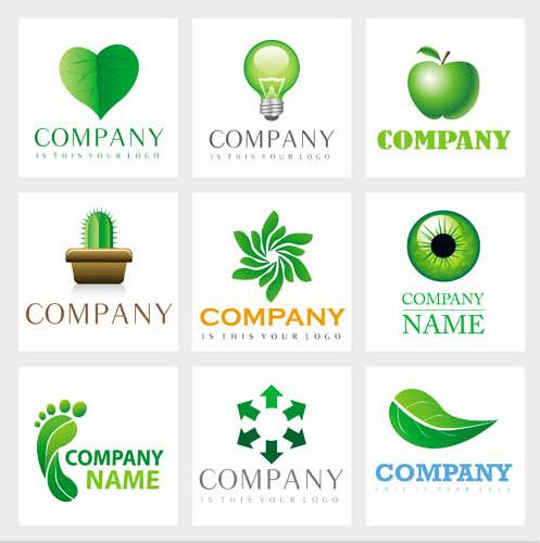 Eco Style Logotypes vector design