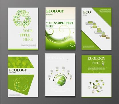 Eco corporate identity Free vector