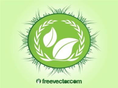 Ecology Badge shiny vector