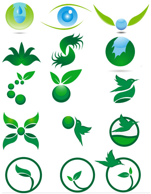 Ecology Different Symbols vector
