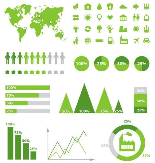 Ecology Infographics Elements art vector