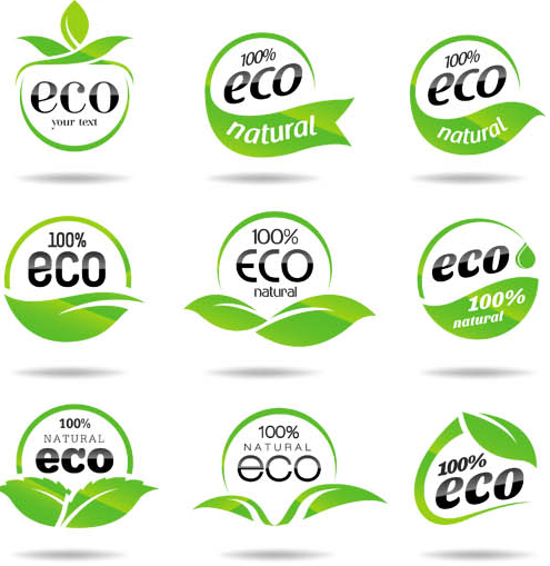 Ecology Labels free vector