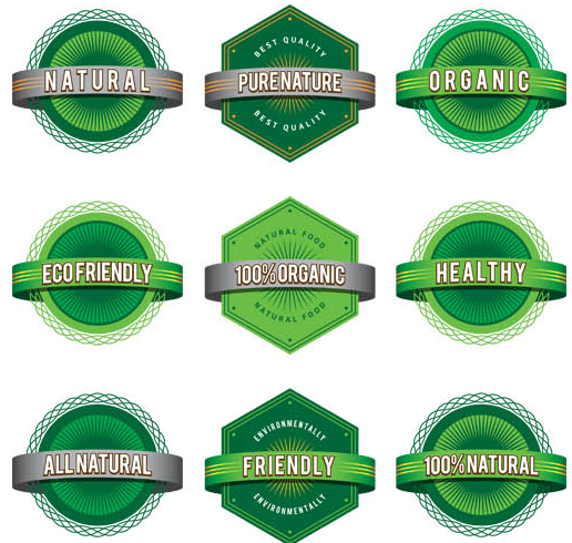 Ecology Shiny Labels vectors graphics