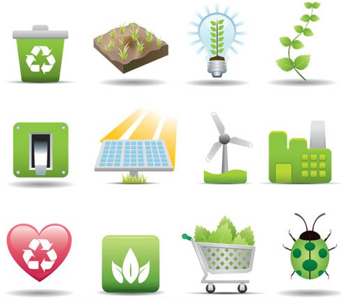 Ecology Style Icons design vector