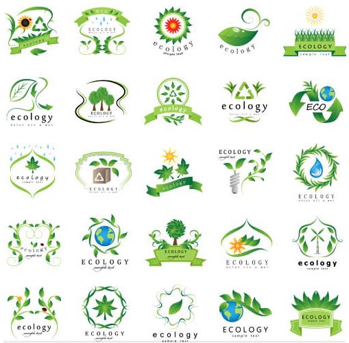 Ecology Symbols Mix vector