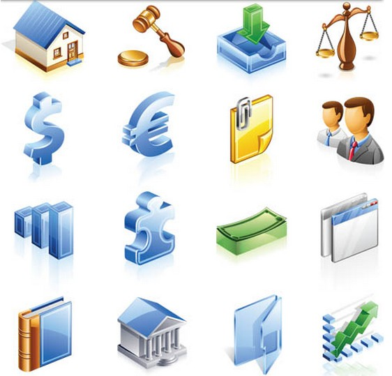 Economic Icons free vector