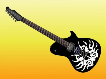 Electric Guitar Design design vector