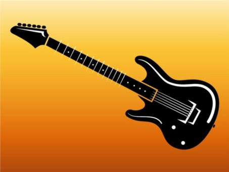 Electric Guitar Footage vector