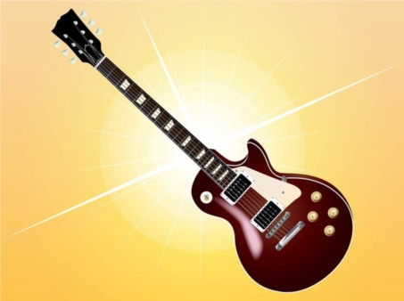 Electric Guitar Image vector material