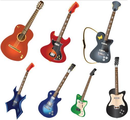 Electric Guitars Vector vector