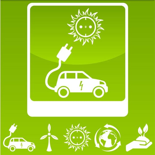 Electric cars free vector