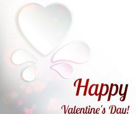 Elegant valentine wihte card vectors material