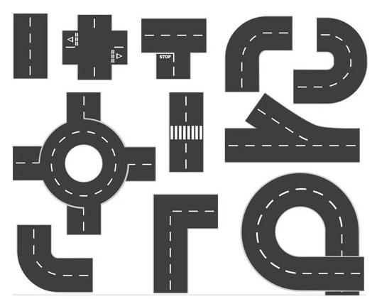Elements roads vector