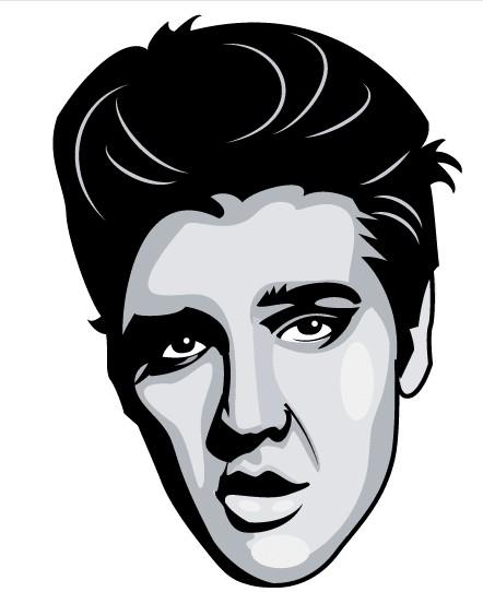 Elvis Presley Portrait Image vector