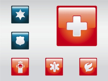 Emergency Icons vector