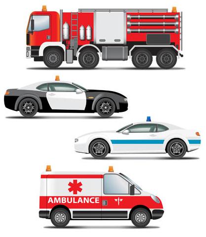 Emergency Transport set vector