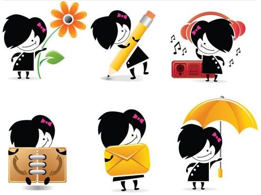 Emo Style Girls Vector