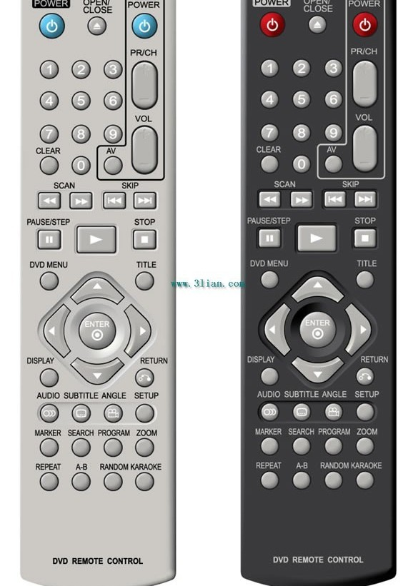 English remote control vector graphics