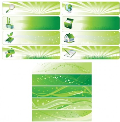 Environmental theme banner background vector design