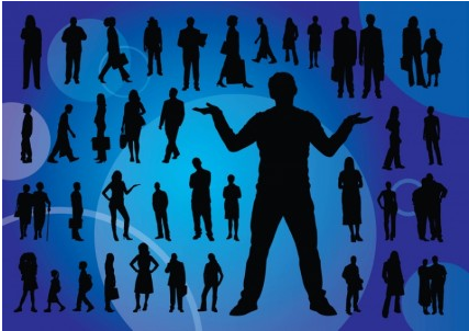 Everyday People Silhouettes vector