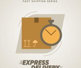 Express delivery poster template vectors design 01